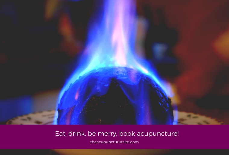 Eat, Drink, Be Merry, Book Acupuncture!